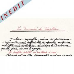 """La """"Succession"""" des Templiers - Manuscrit - Jacques BREYER"""