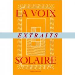 """Textes extraits - """"La Voix Solaire"""" - Jacques BREYER"""